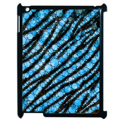Bright Blue Tiger Bling Pattern  Apple Ipad 2 Case (black) by OCDesignss