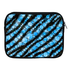 Bright Blue Tiger Bling Pattern  Apple Ipad Zippered Sleeve by OCDesignss