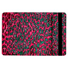 Florescent Pink Leopard Grunge  Apple iPad Air Flip Case by OCDesignss