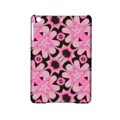 Powder Pink Black Abstract  Apple Ipad Mini 2 Hardshell Case by OCDesignss