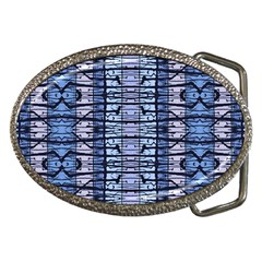 Tribal Geometric Print Belt Buckle (oval) by dflcprintsclothing