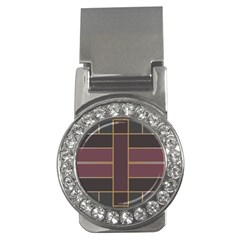 Vertical And Horizontal Rectangles Money Clip (cz) by LalyLauraFLM