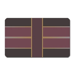 Vertical And Horizontal Rectangles Magnet (rectangular) by LalyLauraFLM