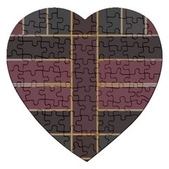 Vertical And Horizontal Rectangles Jigsaw Puzzle (heart) by LalyLauraFLM