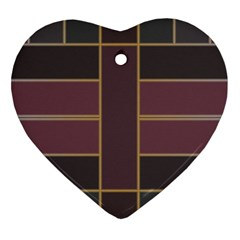 Vertical And Horizontal Rectangles Heart Ornament (two Sides) by LalyLauraFLM