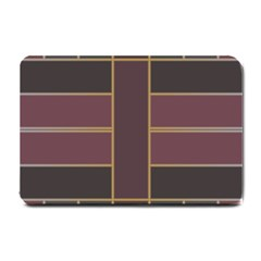 Vertical And Horizontal Rectangles Small Doormat