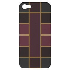 Vertical And Horizontal Rectangles Apple Iphone 5 Hardshell Case by LalyLauraFLM
