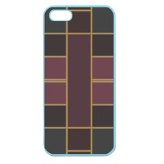 Vertical And Horizontal Rectangles Apple Seamless Iphone 5 Case (color) by LalyLauraFLM