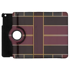 Vertical And Horizontal Rectangles Apple Ipad Mini Flip 360 Case by LalyLauraFLM