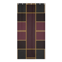 Vertical And Horizontal Rectanglesshower Curtain 36  X 72