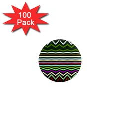 Chevrons And Distorted Stripes 1  Mini Magnet (100 Pack)  by LalyLauraFLM