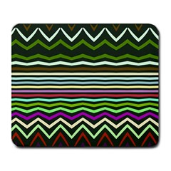Chevrons And Distorted Stripes Large Mousepad