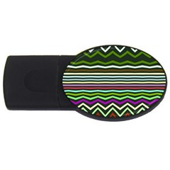 Chevrons And Distorted Stripes Usb Flash Drive Oval (4 Gb)