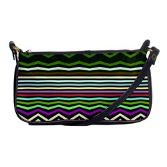 Chevrons And Distorted Stripes Shoulder Clutch Bag by LalyLauraFLM