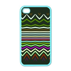 Chevrons And Distorted Stripes Apple Iphone 4 Case (color) by LalyLauraFLM