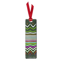 Chevrons And Distorted Stripes Small Book Mark by LalyLauraFLM