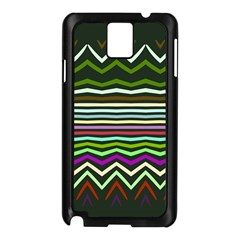 Chevrons And Distorted Stripes Samsung Galaxy Note 3 N9005 Case (black) by LalyLauraFLM