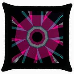 Striped Hole Throw Pillow Case (black) by LalyLauraFLM