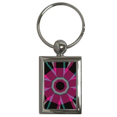 Striped Hole Key Chain (rectangle) by LalyLauraFLM