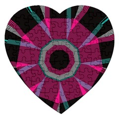 Striped Hole Jigsaw Puzzle (heart) by LalyLauraFLM