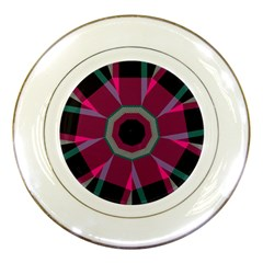 Striped Hole Porcelain Plate by LalyLauraFLM