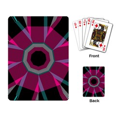 Striped Hole Playing Cards Single Design by LalyLauraFLM