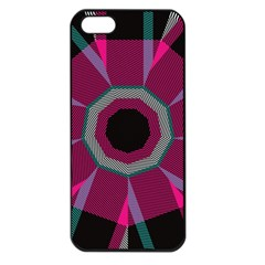Striped Hole Apple Iphone 5 Seamless Case (black) by LalyLauraFLM