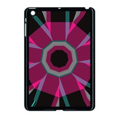 Striped Hole Apple Ipad Mini Case (black) by LalyLauraFLM