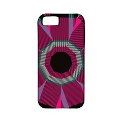 Striped Hole Apple Iphone 5 Classic Hardshell Case (pc+silicone) by LalyLauraFLM