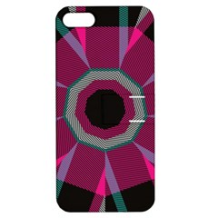 Striped Hole Apple Iphone 5 Hardshell Case With Stand by LalyLauraFLM