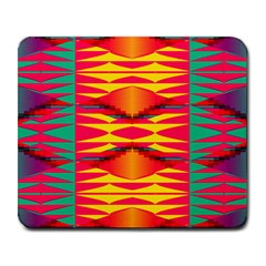 Colorful Tribal Texture Large Mousepad