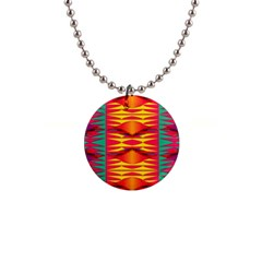 Colorful Tribal Texture 1  Button Necklace