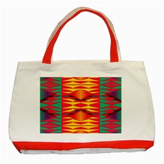 Colorful Tribal Texture Classic Tote Bag (red) by LalyLauraFLM
