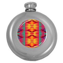 Colorful Tribal Texture Hip Flask (5 Oz) by LalyLauraFLM