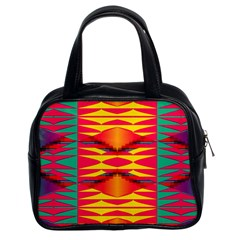 Colorful Tribal Texture Classic Handbag (two Sides) by LalyLauraFLM
