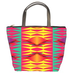 Colorful Tribal Texture Bucket Bag by LalyLauraFLM