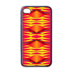 Colorful Tribal Texture Apple Iphone 4 Case (black) by LalyLauraFLM