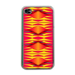 Colorful Tribal Texture Apple Iphone 4 Case (clear) by LalyLauraFLM