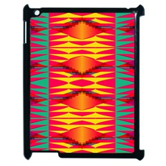 Colorful Tribal Texture Apple Ipad 2 Case (black) by LalyLauraFLM