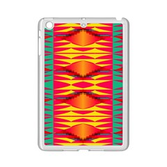 Colorful Tribal Texture Apple Ipad Mini 2 Case (white) by LalyLauraFLM