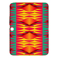 Colorful Tribal Texture Samsung Galaxy Tab 3 (10 1 ) P5200 Hardshell Case  by LalyLauraFLM