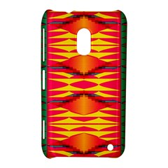 Colorful Tribal Texture Nokia Lumia 620 Hardshell Case by LalyLauraFLM