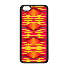 Colorful Tribal Texture Apple Iphone 5c Seamless Case (black) by LalyLauraFLM