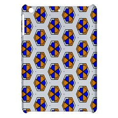 Orange Blue Honeycomb Pattern Apple Ipad Mini Hardshell Case by LalyLauraFLM