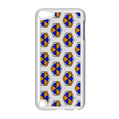 Orange blue honeycomb pattern Apple iPod Touch 5 Case (White) by LalyLauraFLM