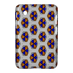 Orange Blue Honeycomb Pattern Samsung Galaxy Tab 2 (7 ) P3100 Hardshell Case  by LalyLauraFLM
