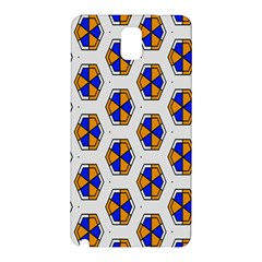 Orange Blue Honeycomb Pattern Samsung Galaxy Note 3 N9005 Hardshell Back Case by LalyLauraFLM