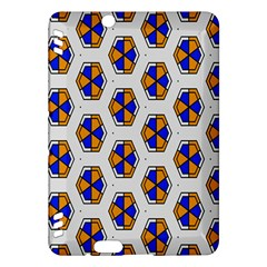 Orange Blue Honeycomb Pattern Kindle Fire Hdx Hardshell Case by LalyLauraFLM
