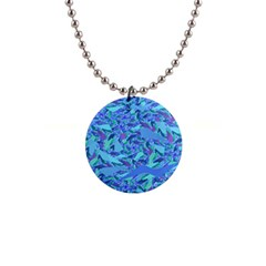 Blue Confetti Storm Button Necklace by KirstenStar