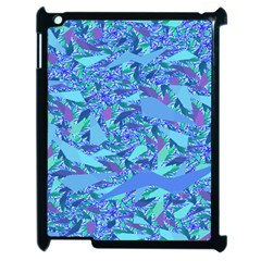 Blue Confetti Storm Apple Ipad 2 Case (black)